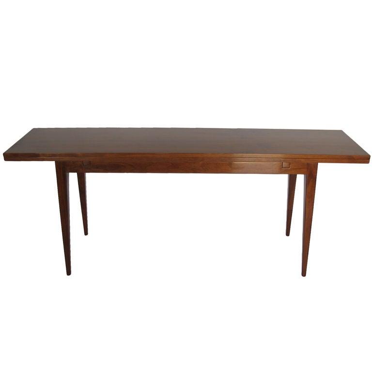 Good Edward Wormley For Dunbar Flip Top Console Table In Walnut For Sale