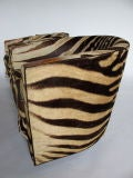 A Pair of Wormley for Dunbar Barrel Chairs in Original Zebra thumbnail 2