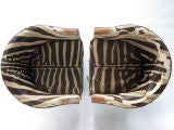 A Pair of Wormley for Dunbar Barrel Chairs in Original Zebra thumbnail 4