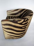 A Pair of Wormley for Dunbar Barrel Chairs in Original Zebra thumbnail 6