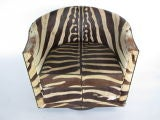 A Pair of Wormley for Dunbar Barrel Chairs in Original Zebra thumbnail 9