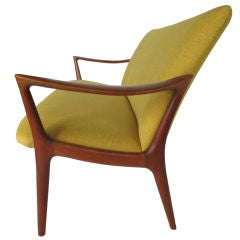 A Sculptural Teak Settee by Rastad and Relling Norway