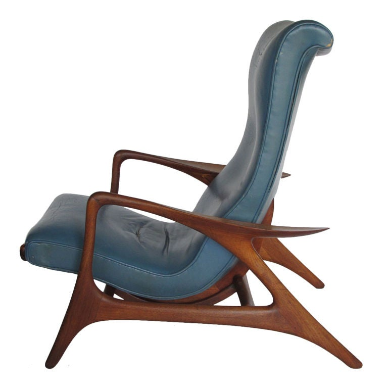 vladimir kagan multi position reclining chair at 1stdibs