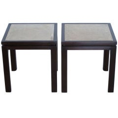 A Pair Of Harvey Probber Enamel Tables