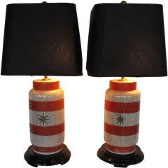 A Pair Of Waylande Gregory Ceramic Lamps
