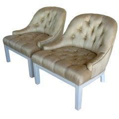 A Pair of Elegant Slipper Chairs