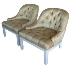 A Pair of Elegant Slipper Chairs
