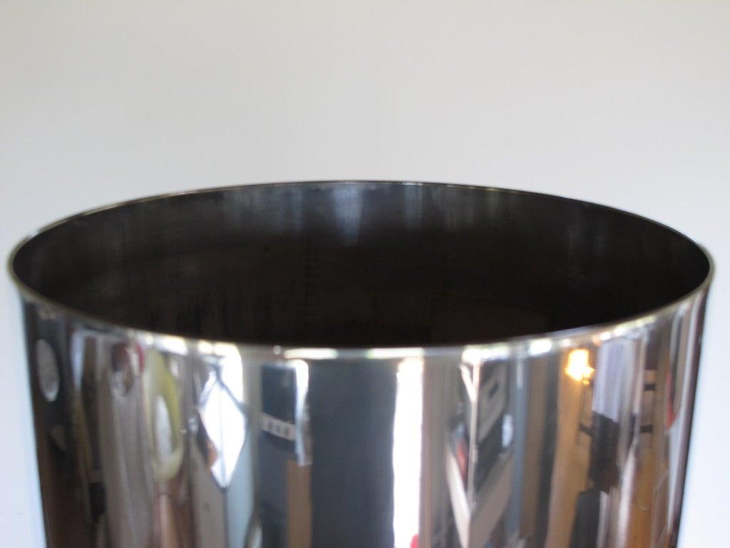 A Polished Aluminum Floor Lamp 2
