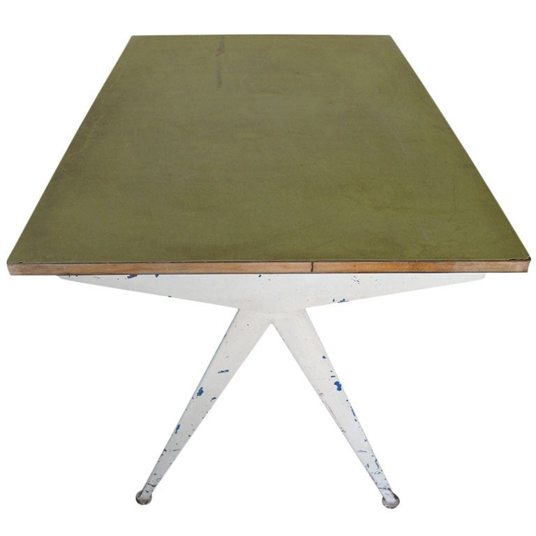 Jean prouve compas table at 1stdibs - Table basse jean prouve ...