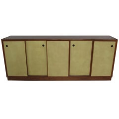 Edward Wormley for Dunbar Sideboard with Leather Doors