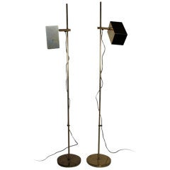 A Pair of Koch Lowy Adjustable Height Reading Lamps