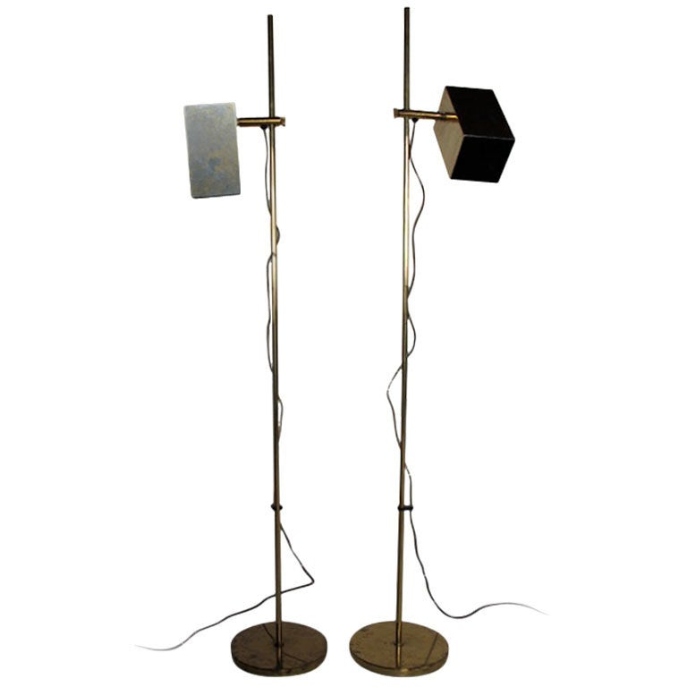 pair of koch lowy adjustable height reading lamps for sale at. Black Bedroom Furniture Sets. Home Design Ideas