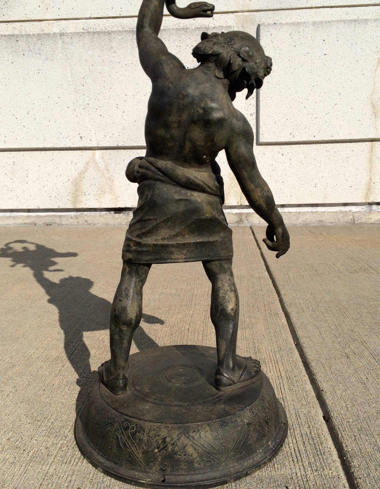 19th Century Grand Tour Pompeian Bronze of Silenus, Large Scale For Sale