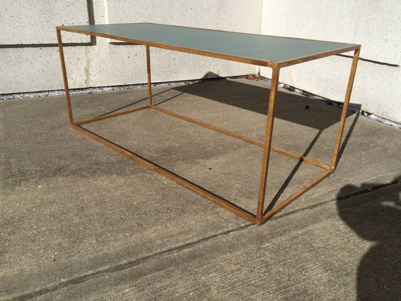 French Gilt Iron Coffee Table For Sale At 1stdibs