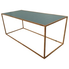 French Mid Century Gilt Iron Coffee Table