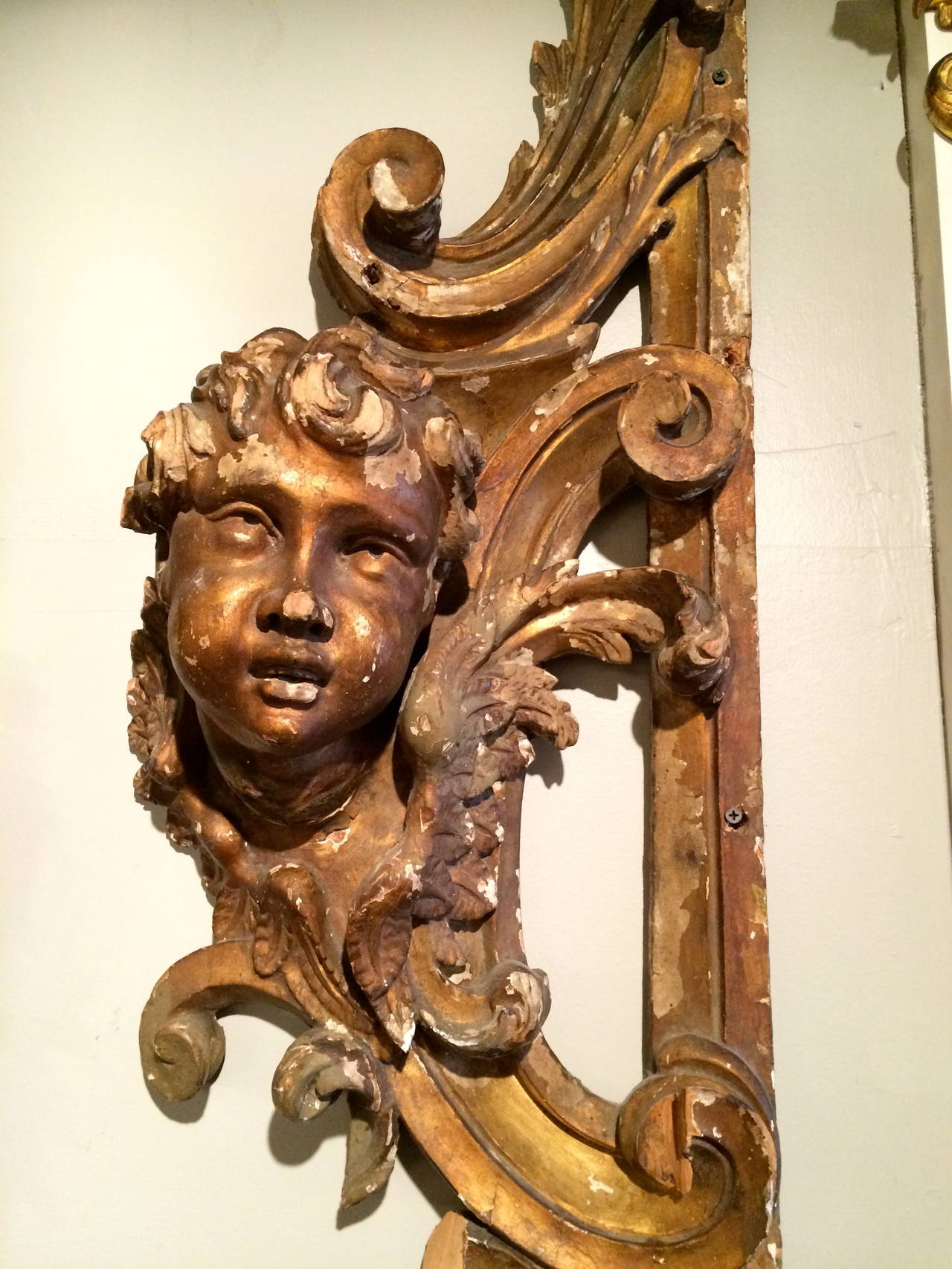Italian rococo giltwood carving sculpture at stdibs