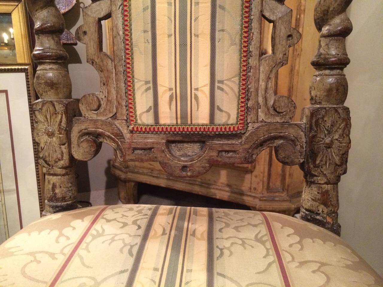 Pair 17th Century English Hall Chairs For Sale 2