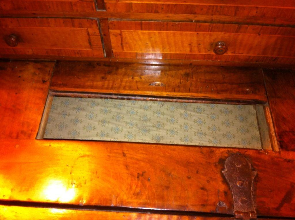 Italian Baroque Walnut Fall Front Desk For Sale 1