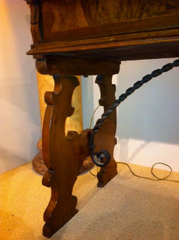 Italian Baroque Walnut Fall Front Desk For Sale 3