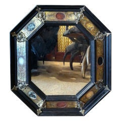 A Pair of Gilt Bronze and Pietre Dure Mounted Mirrors