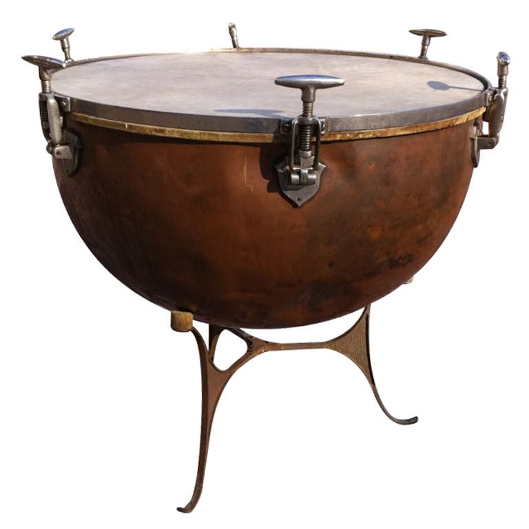 Vintage Copper Kettle Drum At 1stdibs