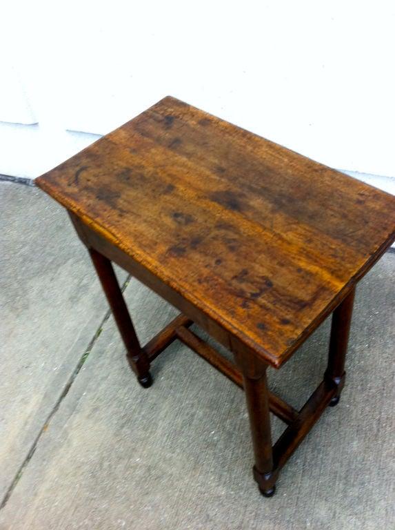 Italian Baroque Walnut Side Table For Sale 1