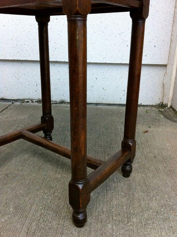 Italian Baroque Walnut Side Table For Sale 2