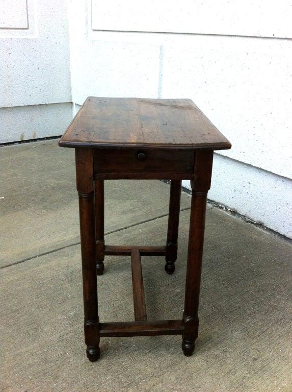 Italian Baroque Walnut Side Table For Sale 4