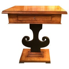 Lyre Base Console Table