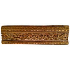 18th Century Italian Giltwood Architectural Carving