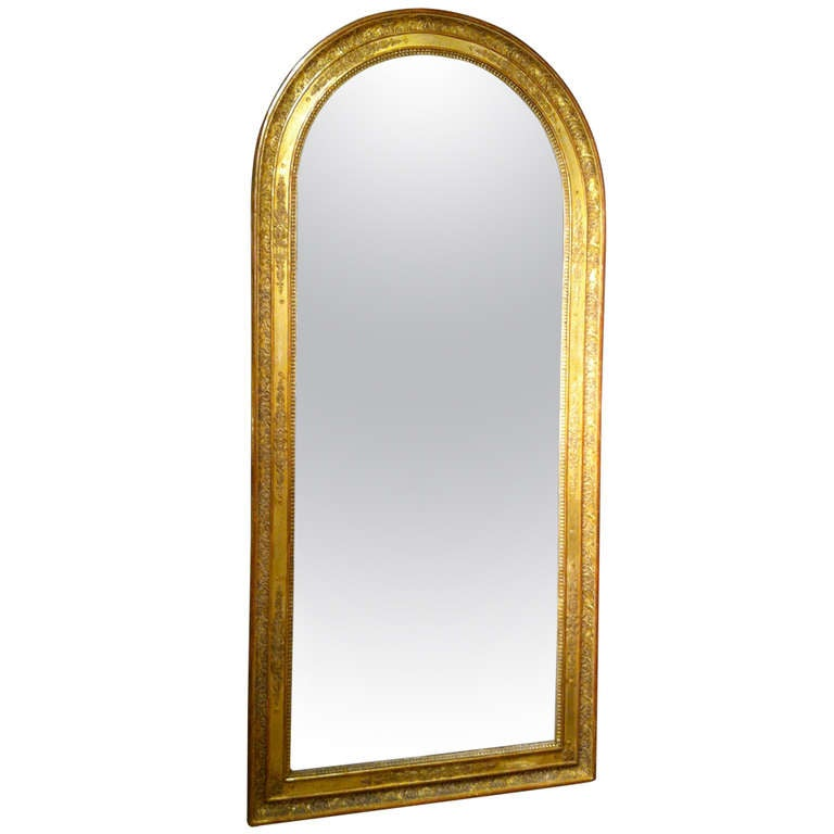 French empire gilt wood mirror large scale for sale at Large wooden mirrors for sale
