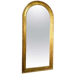 French Empire Gilt Wood Mirror, Large-Scale