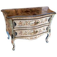 Venetian Rococo Hand Painted Chest of Drawers