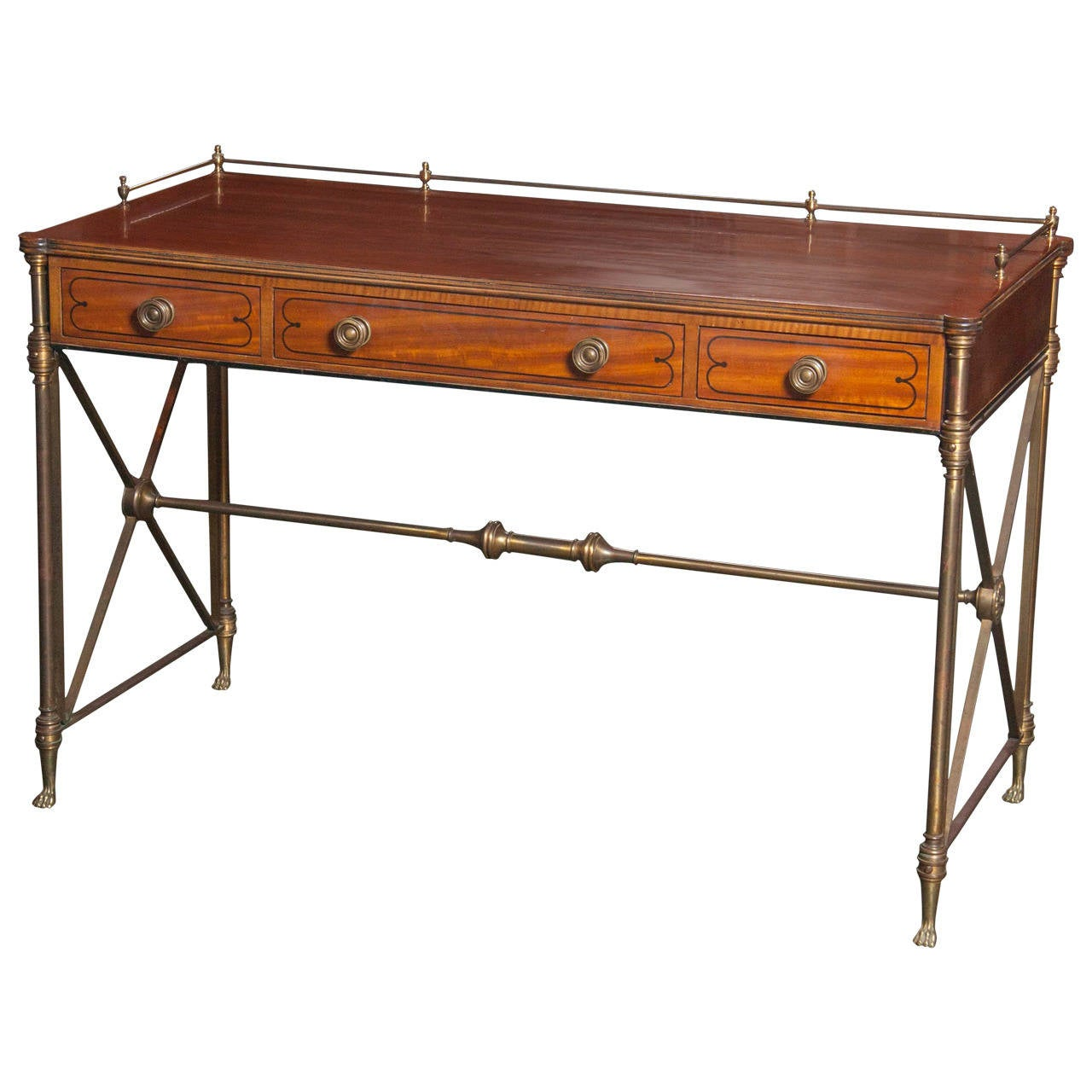 Regency Style Rosewood Campaign Desk For Sale at 1stdibs