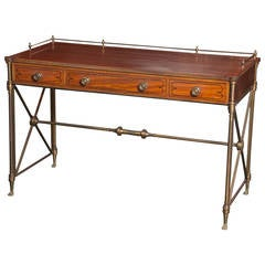 Regency Style Rosewood Campaign Desk