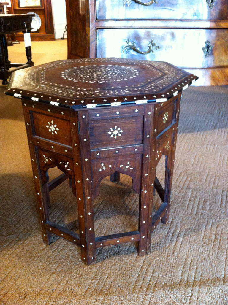 Anglo Indian Rosewood And Ivory Side Table 2