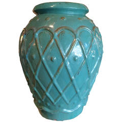 Turquoise Glaze Jar by Galloway