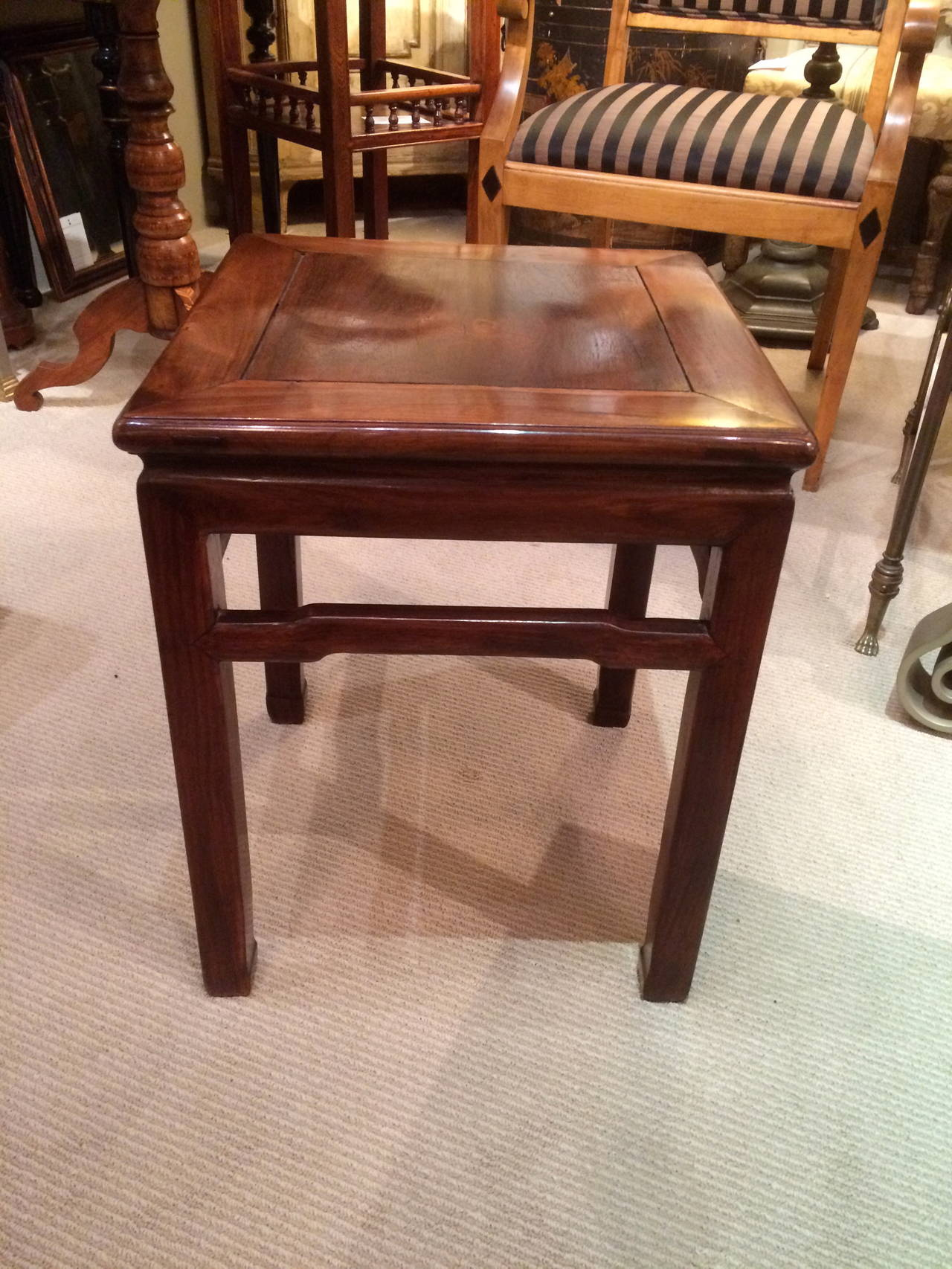 Pair of Chinese Hard Wood Side Tables 4