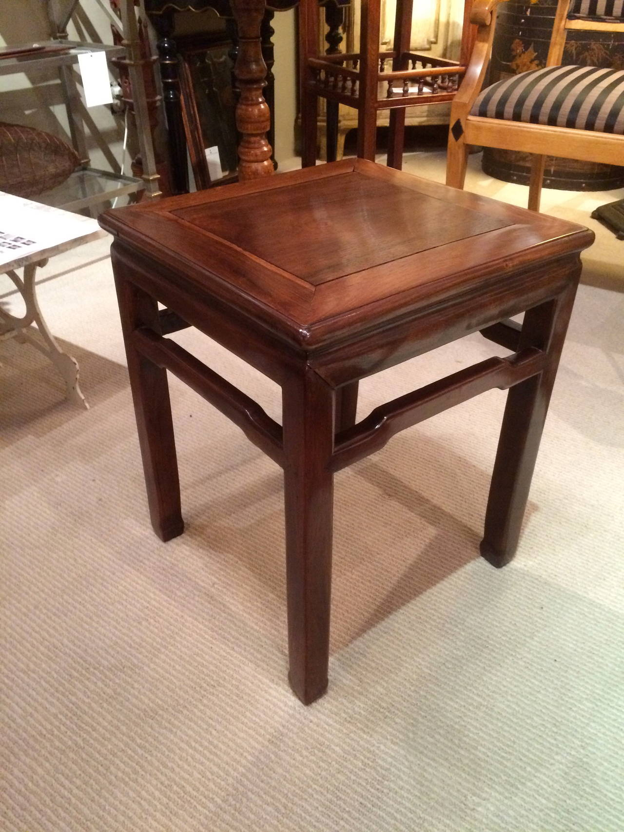 Pair of Chinese Hard Wood Side Tables 3