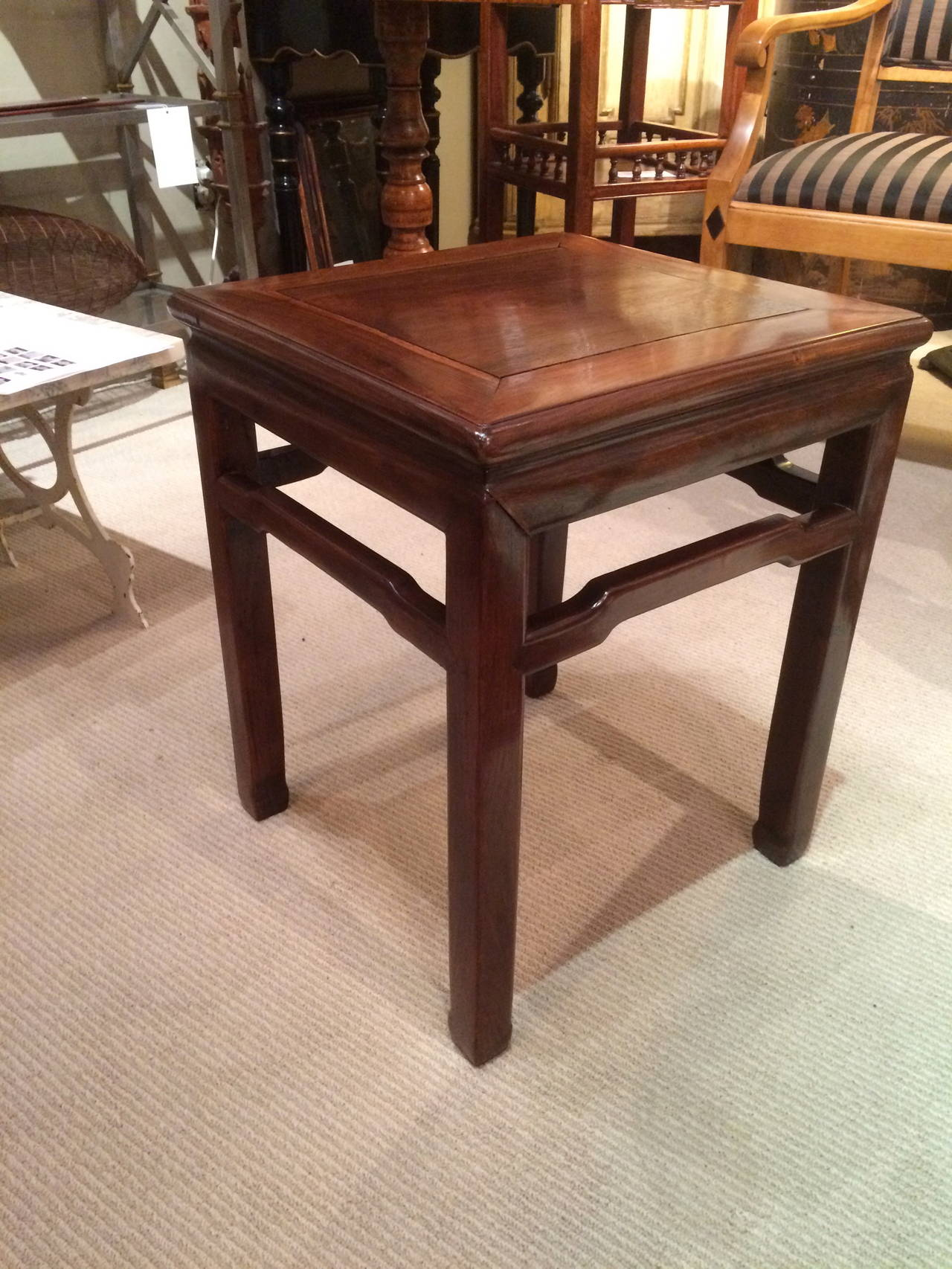 Pair of Chinese Hard Wood Side Tables 2