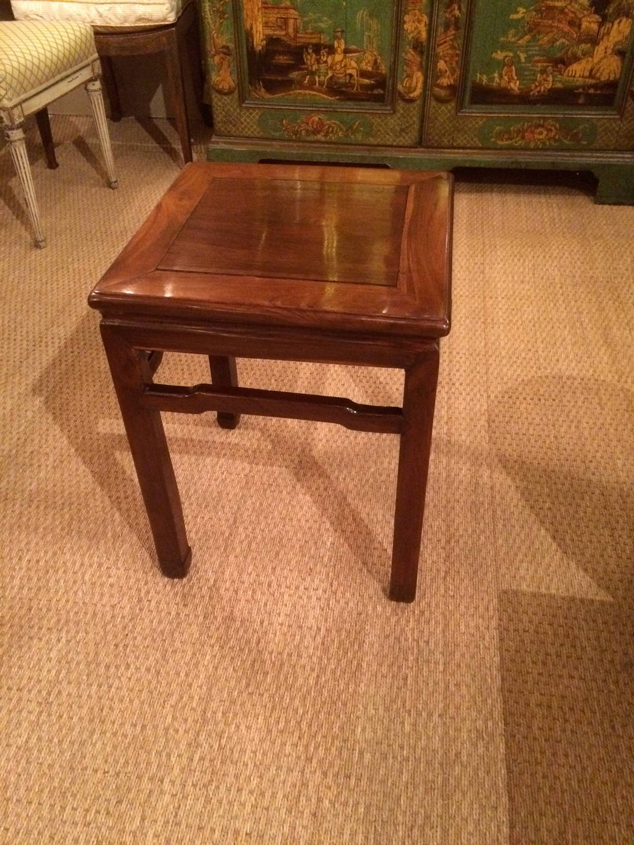 Pair of Chinese Hard Wood Side Tables 7