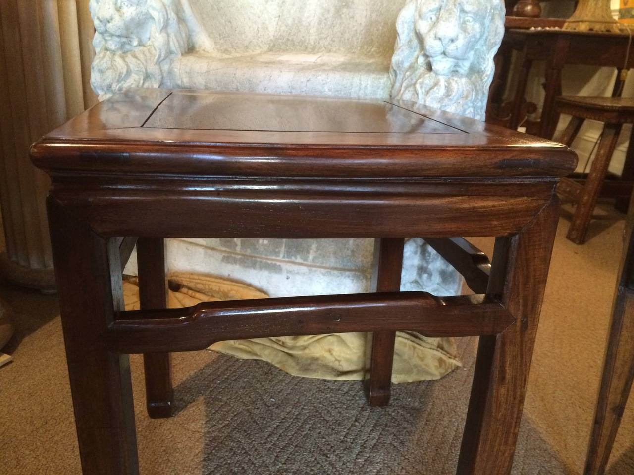Pair of Chinese Hard Wood Side Tables 9