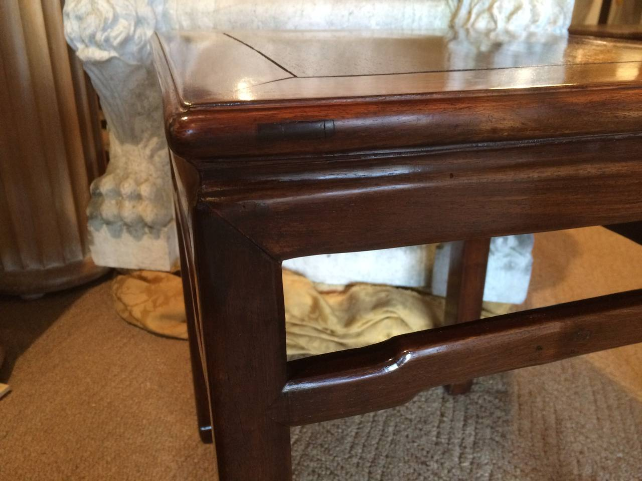Pair of Chinese Hard Wood Side Tables 8
