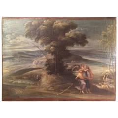 16th Century Italian Oil on Canvas 'Noah Gathering the Animals'