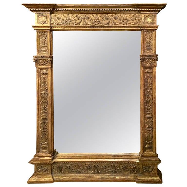 Italian renaissance style mirror frame at 1stdibs for Mirror frame styles