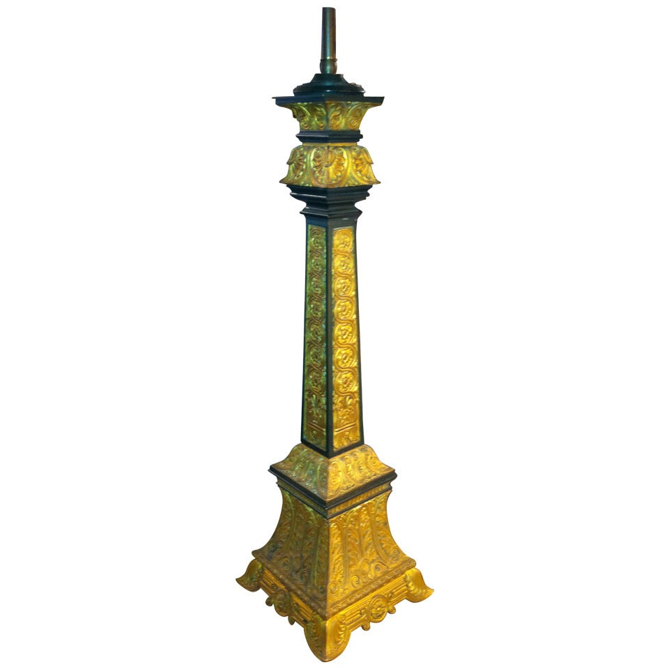 French Neoclassical Style Gilt Bronze Table Lamp