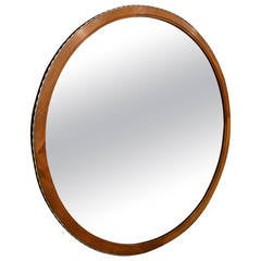 Modernist Round Mirror
