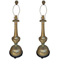 Pair of Anglo Indian Large-Scale Table Lamps