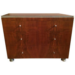 Walnut Dresser with Silver Leaf, 1933 by Robert W. Irwin
