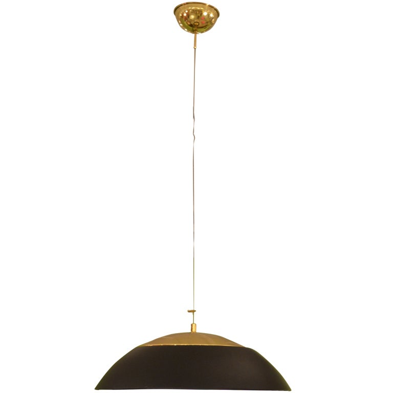 large dome ceiling l in black and brass at 1stdibs